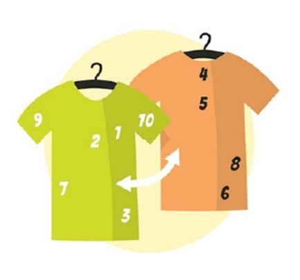 Vyberte pozici tisku na tričkách
