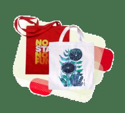 Potisk látkových tašek